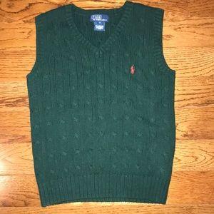 Polo by Ralph Lauren Hunter Green Vest Size 7